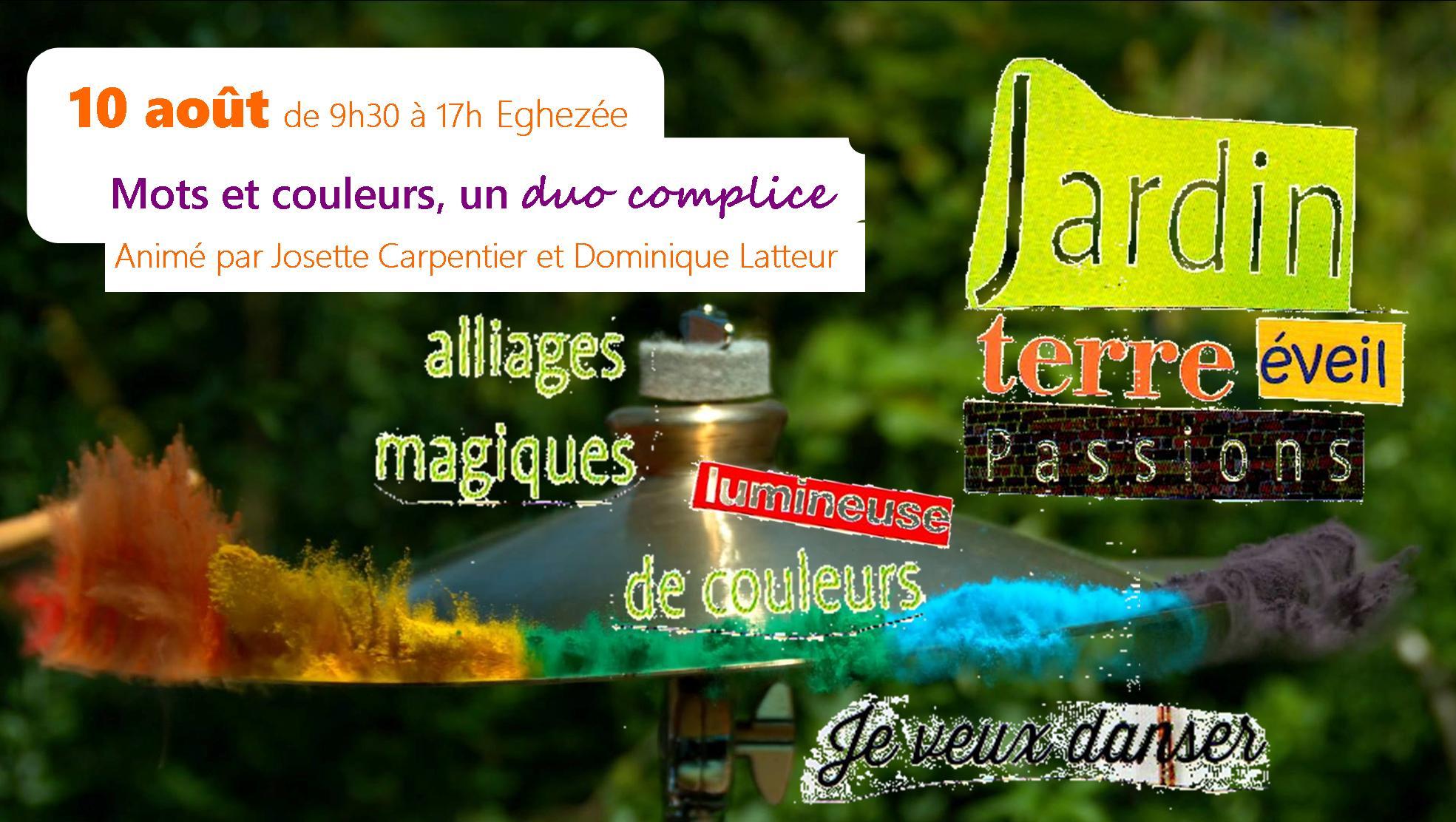 10 aout O1 Mots et couleurs Dominique Latteur Josette Carpentier
